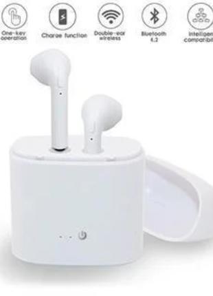 Стерео гарнитура Bluetooth AirPods i7S tws + кейс Power Bank