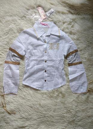 Детская рубашка на кнопках блуза на девочку