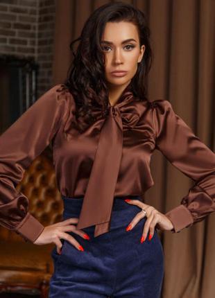 Блуза 33967 коричневый