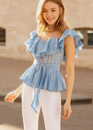 Блуза 34815 голубой