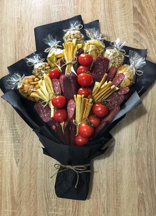 Мужской букет Киев, подарок для мужчины, съедобный букет
