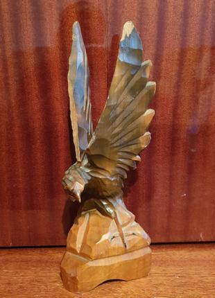 Винтажная деревянная статуэтка орёл. ссср
