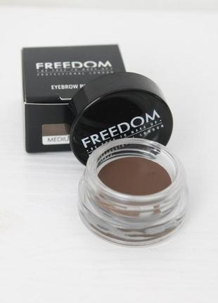 Помада для бровей коричневая medium brown makeup revolution fr...