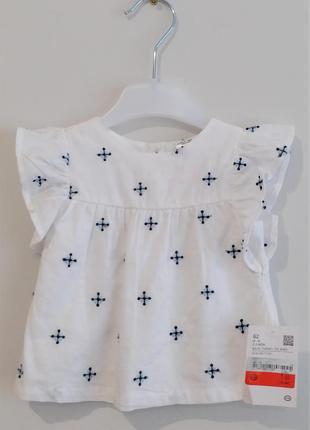 Топ с вышивкой на девочку 2-3 месяца c&a