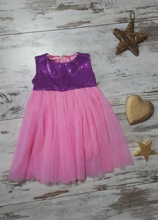 Нарядное празднично платье паетки принцессы пачка