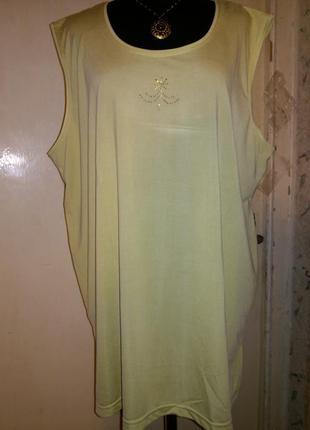 Стрейч,натуральная,салатово-лаймовая блузка-маечка-безрукавка ...
