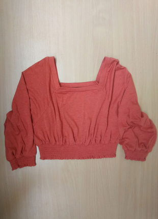 Терракотовый кирпичный топ блуза Shein