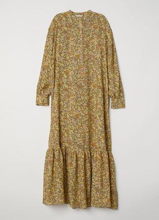 Длинное креповое платье