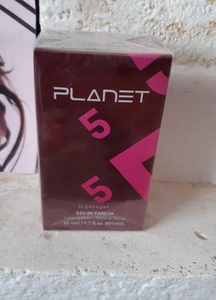 "Женская парфюмированная вода ""planet purple 5"" -50 мл юнайс ,"