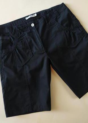Стильные черные котоновые шорты, бермуды jasmin