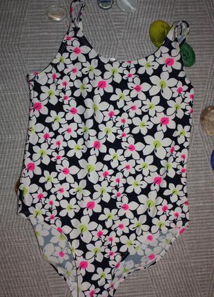 Красивый цветочный купальник ф.y.d для девочки от 11 /13,р-152...