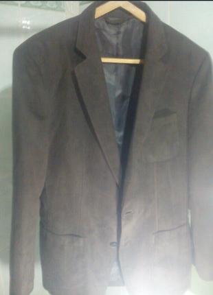 Пиджак зара оригинал ткань как замш ,шоколад
