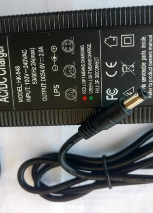 Зарядное устройство литий-ионных аккумулятов 48В (54,6В 2A 13S)