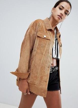 Трендовый пиджак,куртка искусственный замш