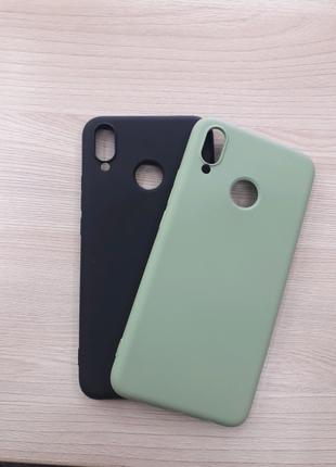 Силиконовый чехол накладка Silicone case my color huawei p smart