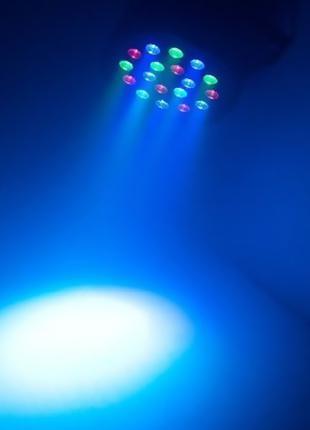 Светодиодный фоно-заливочный прожектор (светомузыка) LED MINI PAR