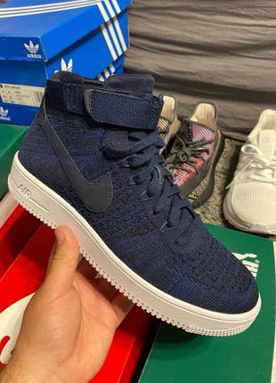 Nike Air Force W AF1 Flyknit blue