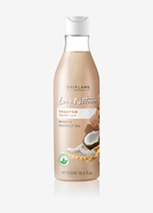 Шампунь для сухих волос «Пшеница и кокос». Большой объем