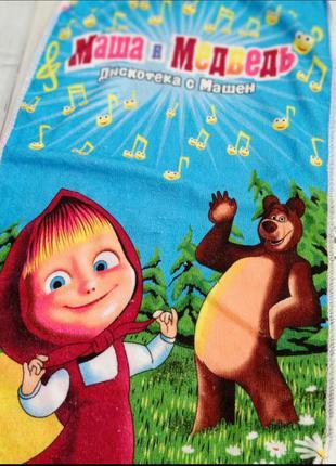 Полотенце маша и медведь