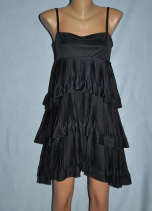 Платье с рюшами(воланами)