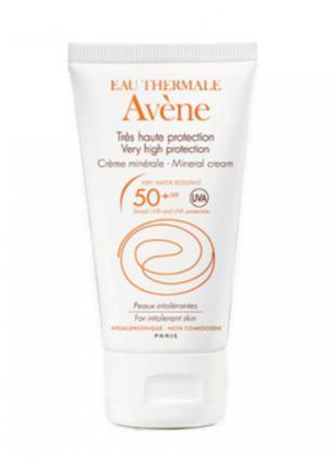 Avene mineral cream spf 50 авен крем солнцезащитный с минераль...