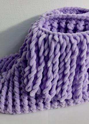 Вязаные сапожки / тапочки для дома ручной работы