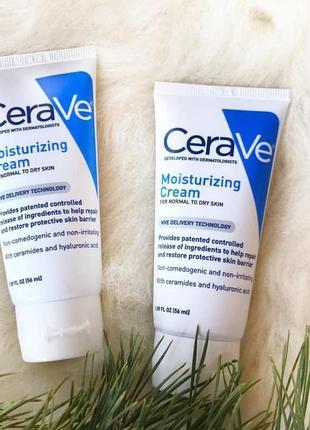 Cerave, увлажняющий крем, для кожи лица и тела на основе гиалу...
