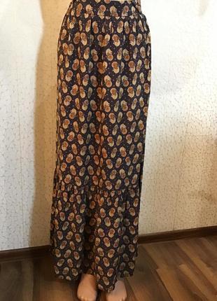 Стильная юбка с оборкой в пол вискоза состояние новой вещи