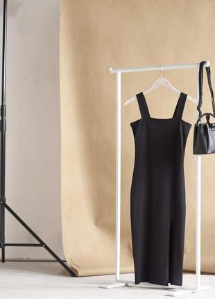 Женское платье, женский черный сарафан , сарафан миди , платье с