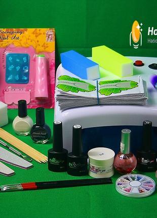 Стартовый набор для наращивания ногтей и покрытия гель-лаком  №1