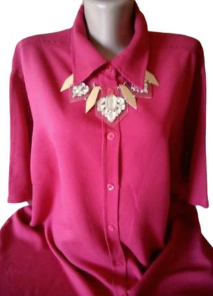 Красная блуза, рубашка east coast, очень большой размер, гонконг