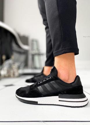 "Кроссовки мужские adidas zx 500 rm ""black/ white"""