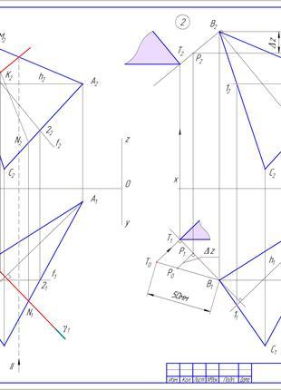 Нарисна геометрія, креслення на замовлення для студентів та профі