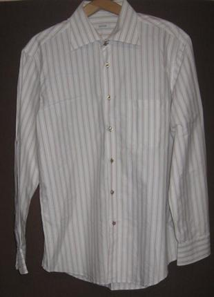 Рубашка мужская с длинным рукавом, большой размер в полоску. 6...
