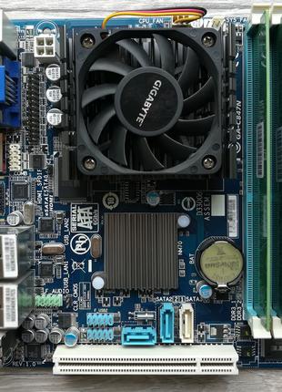 Материнская плата Gigabyte GA-C847N + 2x2Gb DDR3