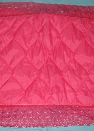 Наволочка  розовая  прямоугольная на подушку. красивенная.  бю...