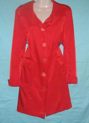 Пальто женское красное. демисезонное. шикарно смотрится. самая...