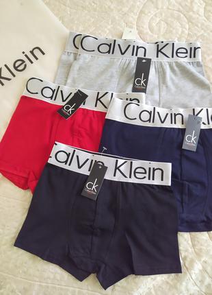 Трусы подростковые копия Calvin Klein на спортивной резинке.
