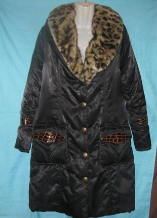 Куртка зимняя женская с меховым воротником. шикарная. распродажа