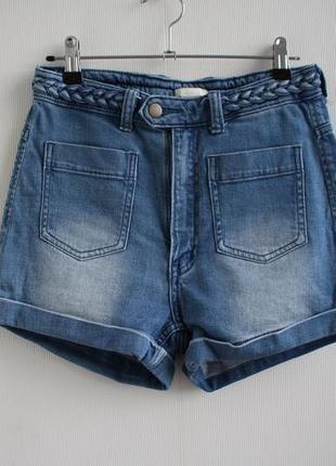 Классные джинсовые шорты от h&m, высокая посадка