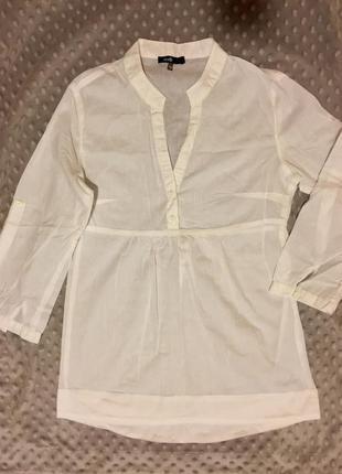 Белоснежная легкая блузка кофточка