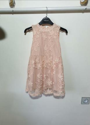 Пудровое платье next 6лет