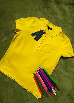 Футболка поло желтая для девочки debbie morgan