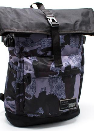 Роллтоп рюкзак современный с отделением для ноутбука