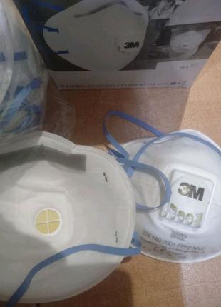 Респиратор FFP-2,маска фильтровальная 3M 8822