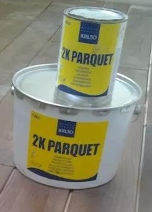 Клей для паркета и доски двухкомпонентный полиуретановый KIILTO 2
