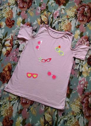 Модная футболка для девочки 13-14 лет
