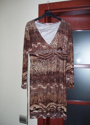 Платье женское вискоза змеиный окрас