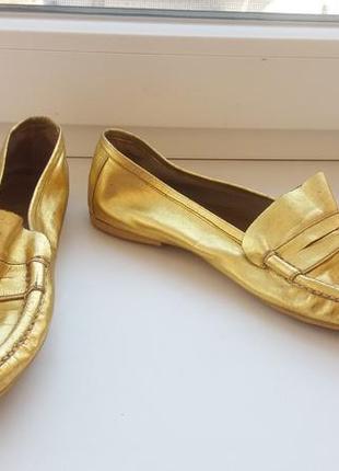 Мокасины золото