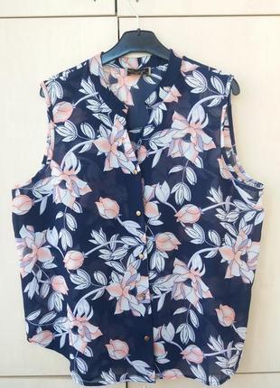 Блузка-безрукавка 3xl